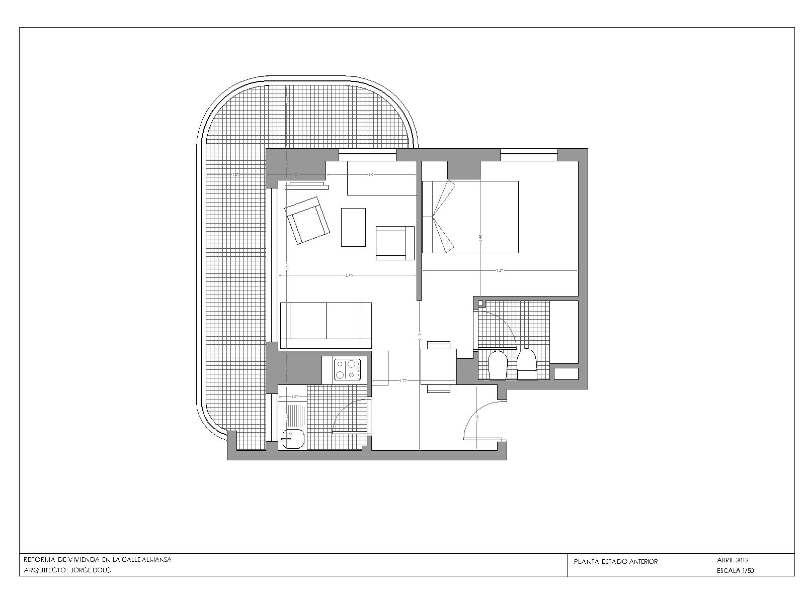 Reforma de vivienda en la calle almansa - Plano de almansa ...