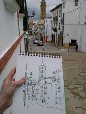 Dibujando en Antequera